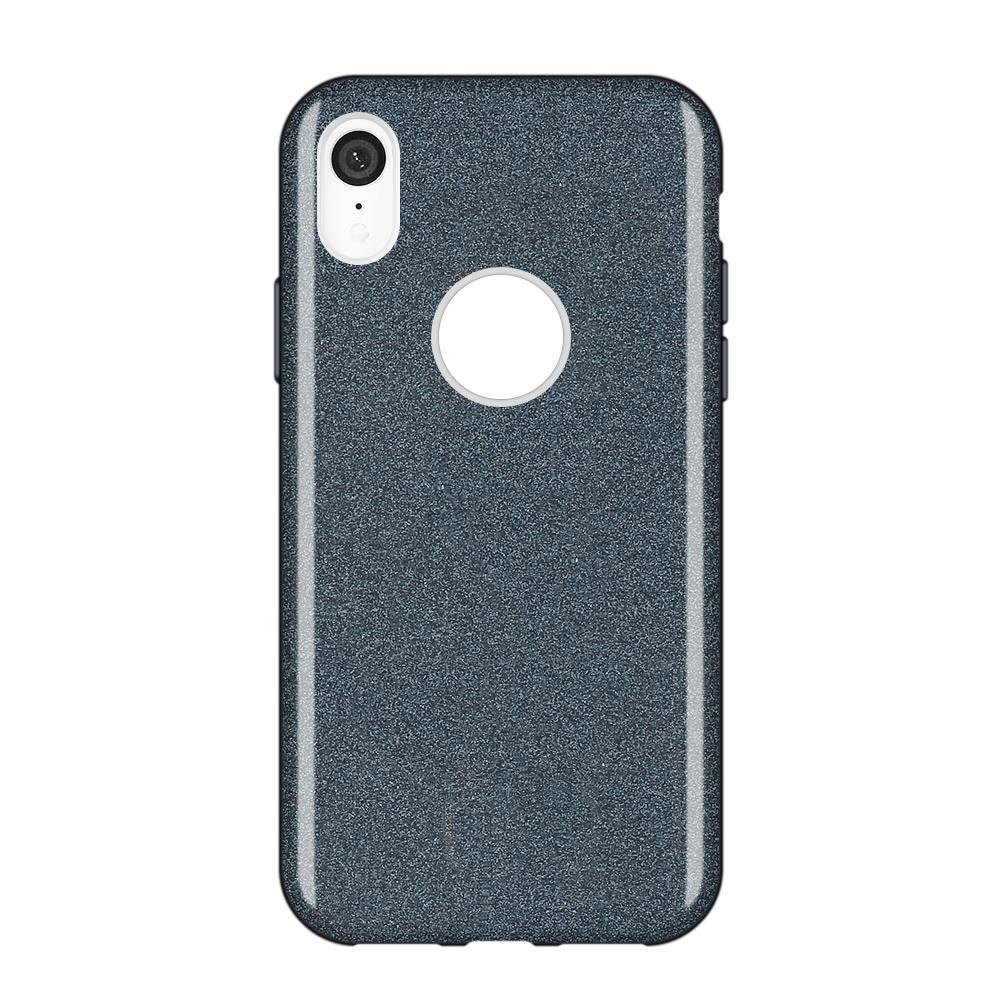 Wozinsky Glitter Shining silikonové pouzdro iPhone XR black
