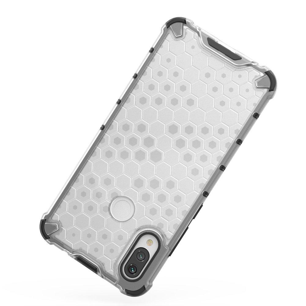 Honeycomb pancéřové pouzdro se silikonovým rámem pro Xiaomi Redmi Note 7 black