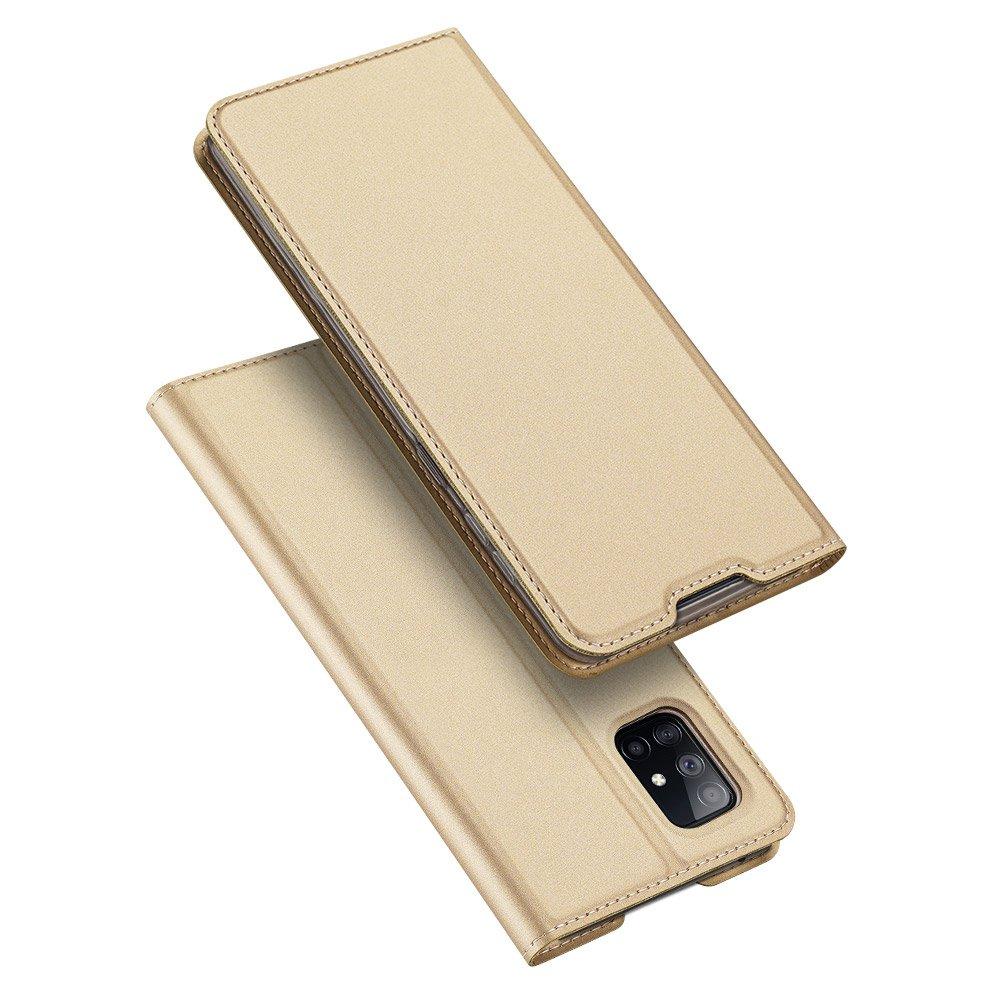 Flipové pouzdro Dux Ducis skin Samsung Galaxy A51 5G ,zlatá 6934913062487