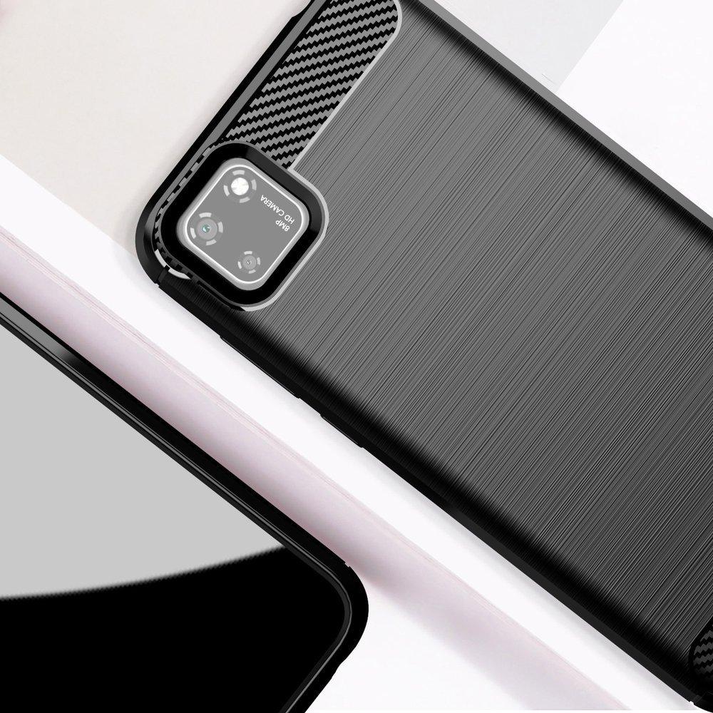 Carbon silikonové pouzdro na Huawei Y5p blue