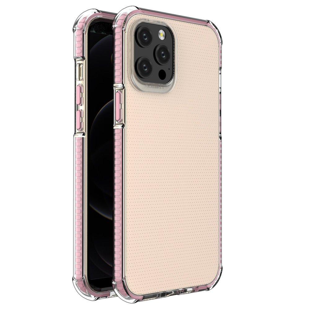 """Spring Armor silikonové pouzdro s barevným lemem na iPhone 12 Pro MAX 6,7"""" pink"""