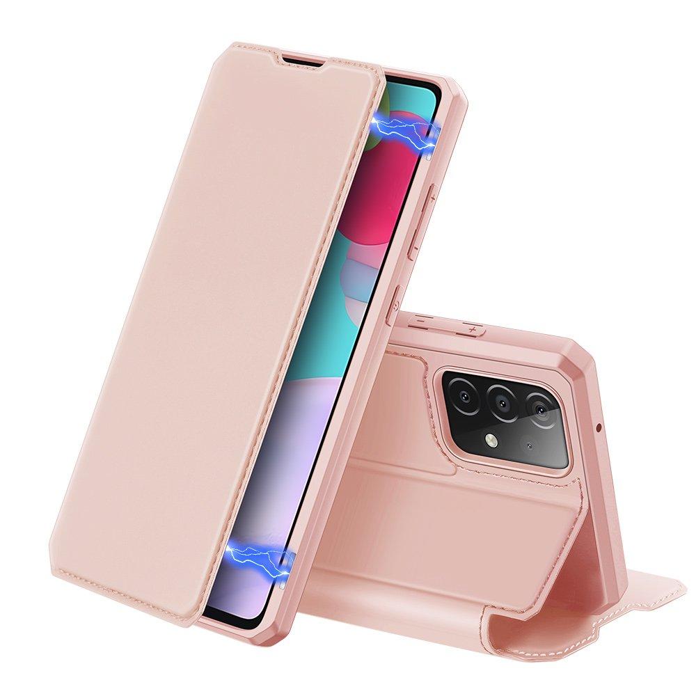 DUX DUCIS Skin X knížkové puzdro na pre Samsung Galaxy A52 / A52 5G pink