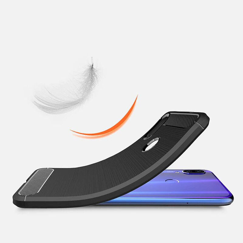 Carbon silikonové pouzdro pro Xiaomi Redmi Note 7 black
