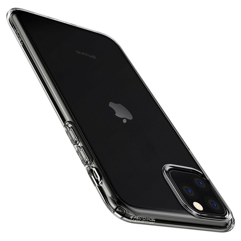 Spigen Liquid Crystal silikonové púzdro pre iPhone 11 Pro MAX Crystal Clear