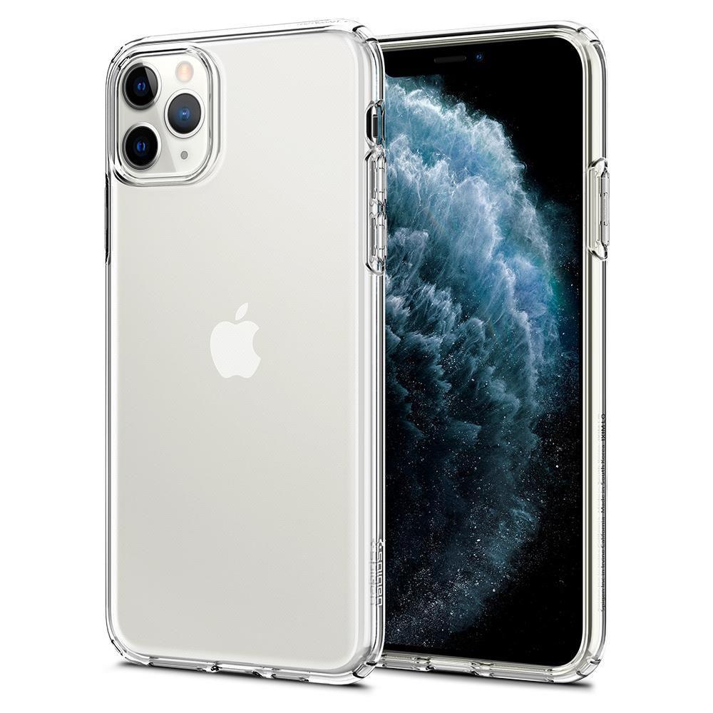 Spigen Liquid Crystal silikonové pouzdro na iPhone 11 Pro Max Crystal Clear