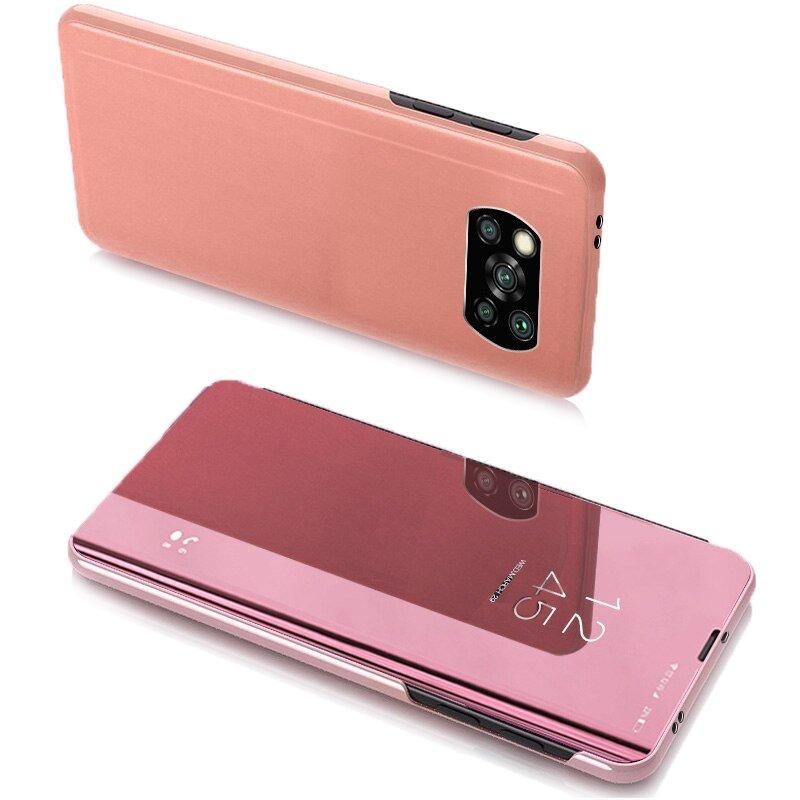 Knížkové pouzdro na Xiaomi Poco X3 Pro / X3 NFC s průhlednou přední stranou pink