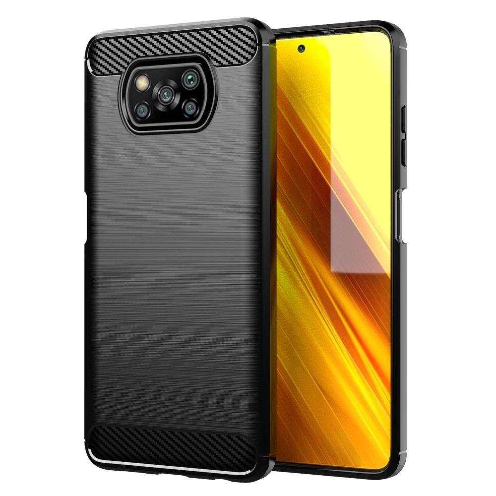 Carbon silikonové pouzdro naXiaomi Poco X3 NFC / X3 Pro black