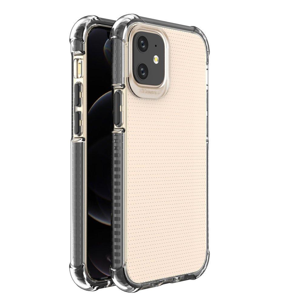 """Spring Armor silikonové pouzdro s barevným lemem na iPhone 12 Mini 5,4"""" black"""